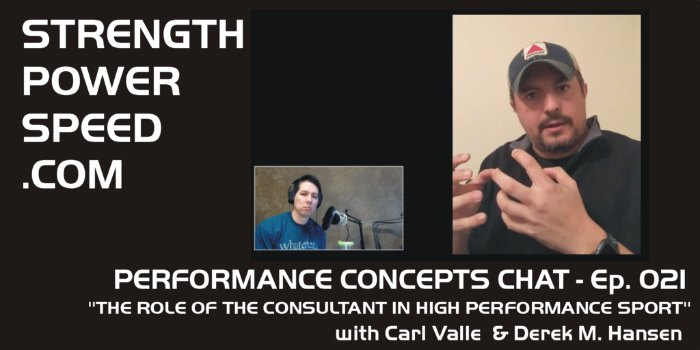 Performance Concepts Chat – Episode 021 – Carl Valle:  The Role of the Consultant in High Performance Sport